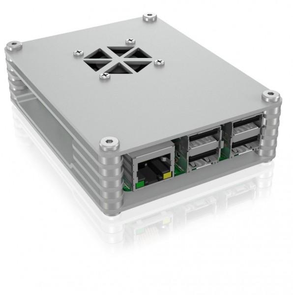 ICY Box IB-RP107 Carcasa para Raspberry Pi 2 y 3, plata