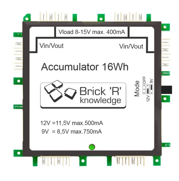 ALLNET Brick'R'knowledge Batería 9V/12V 2x2