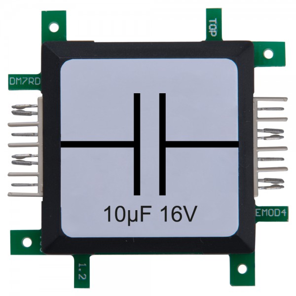 Brick'R'knowledge Condensador 10µF 16V