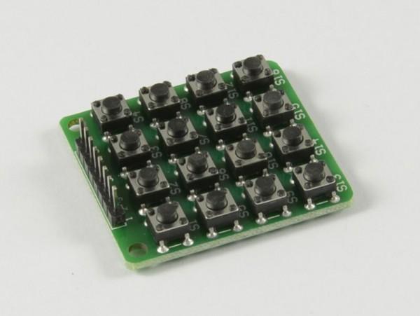 4duino Teclado matricial 4x4 con 16 bótones