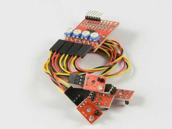 4duino Módulo IR Detector de movimiento de 4 canales