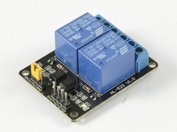4duino Módulo de 2 relés con optoacoplador