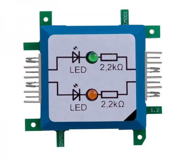 Brick'R'knowledge Doble diodo Verde / Naranja