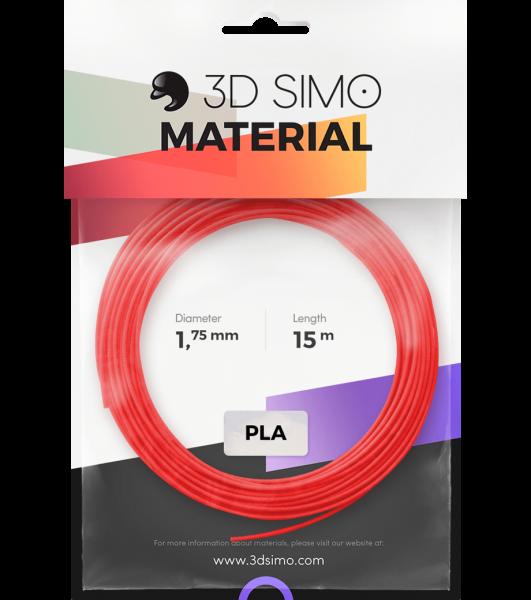 3Dsimo Filamento PLA 2 rojo, violeta & verde
