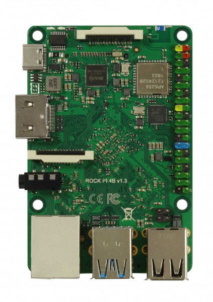 Rock Pi 4 Modelo A 1GB V1.4 (sin WLAN/Bluetooth/PoE)