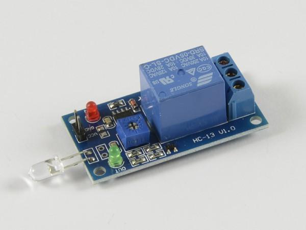 4duino Sensor de luz diodo con relé