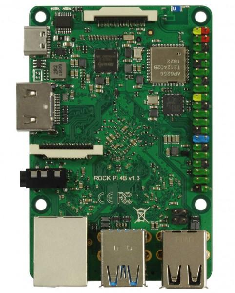 Rock Pi 4 Modelo A 4GB V1.4 (sin WLAN/Bluetooth/PoE)