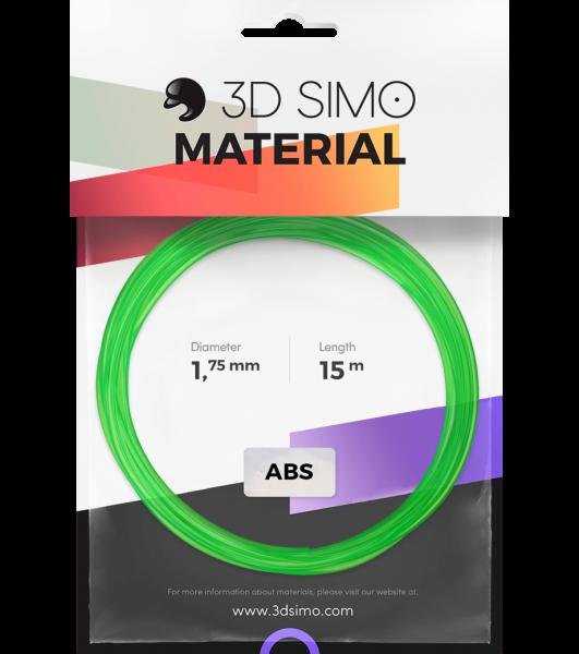 3Dsimo Filamento ABS verde, lila & amarillo transparente