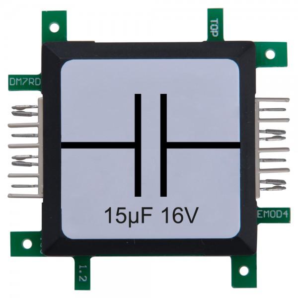 Brick'R'knowledge Condensador 15µF 16V
