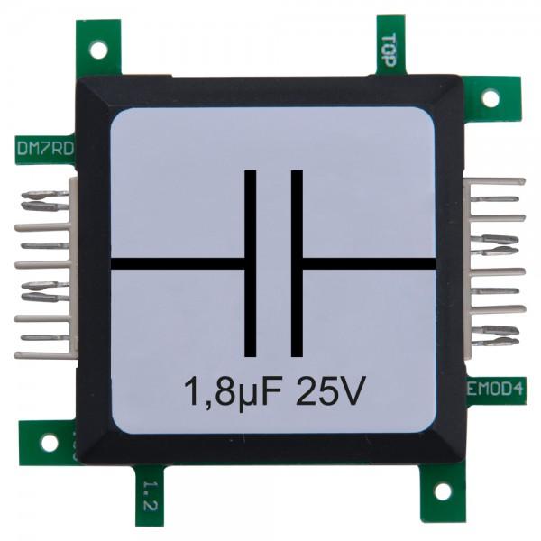 Brick'R'knowledge Condensador 1,8µF 25V