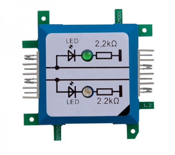 ALLNET Brick'R'knowledge LED-Dual a Tierra, Verde / Azul