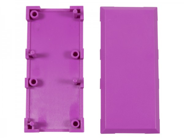 ALLNET Brick'R'knowledge Carcasa violeta 2x1 Pack de 10uds