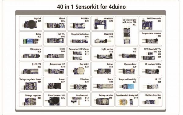 4duino Kit Sensores 40 en 1 *NUEVO*