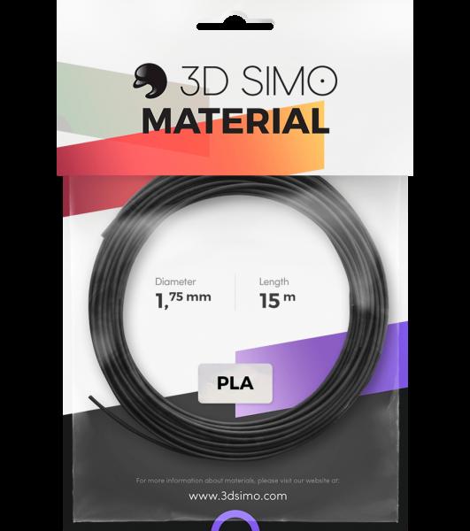 3Dsimo Filamento PLA 1 negro, dorado & gris