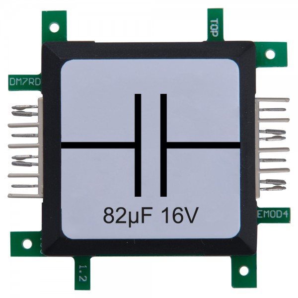 Brick'R'knowledge Condensador 82µF 16V