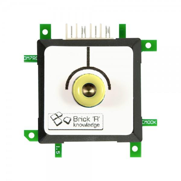 Brick'R'knowledge Adap. de medida 4mm Endpoint Amarillo