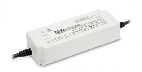 Mean Well LPF-90D-24 Alimentación 24V/90W IP67 Regulable