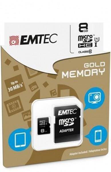 EMTEC Tarjeta de Memoria microSDHC UHS-I 8GB