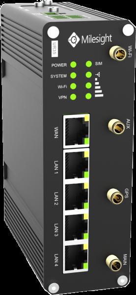 Milesight IoT UR35 Router Celular GPS PoE Wi-Fi