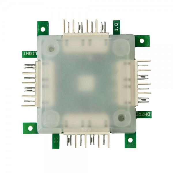 Brick'R'Knowledge LED RGB transparente, 10 unidades