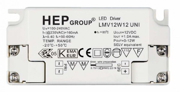 HEP Alimentación LED - 12V/12W