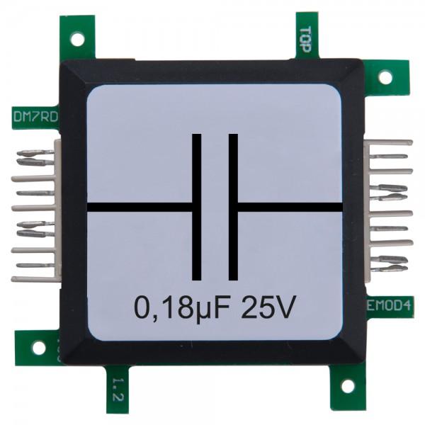 Brick'R'knowledge Condensador 0,18µF 25V