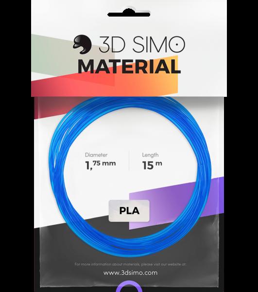 3Dsimo Filamento PLA azul, rojo & blanco transparente