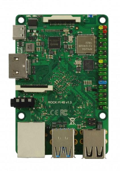 Rock Pi 4 Modelo A 2GB V1.4 (sin WLAN/Bluetooth/PoE)