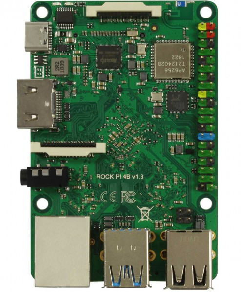 Rock Pi 4 Modelo B 4GB (con Dualband-WLAN-Bluetooth 5.0)
