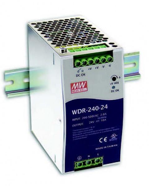 Mean Well WDR-240-24 Alimentación 24V/240W