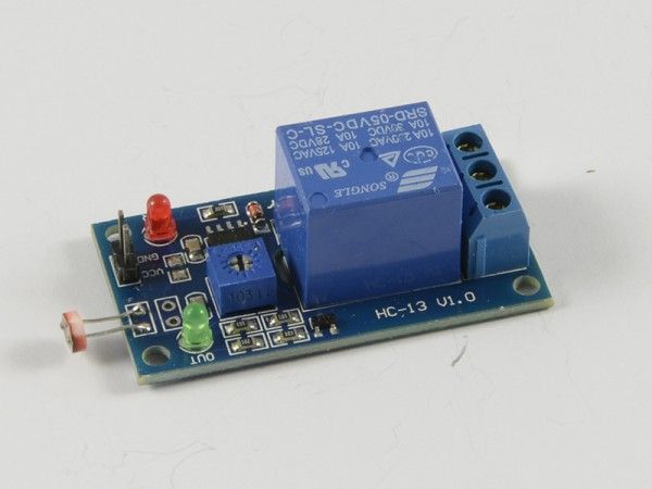 4duino Sensor de luz LDR con relé