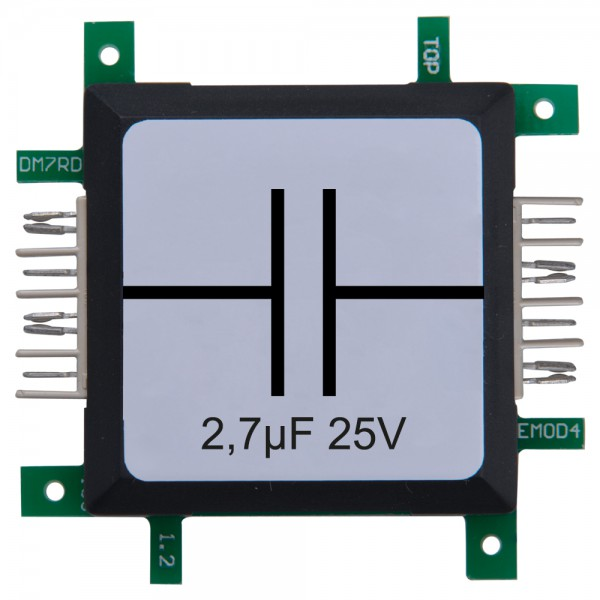 Brick'R'knowledge Condensador 2,7µF 25V