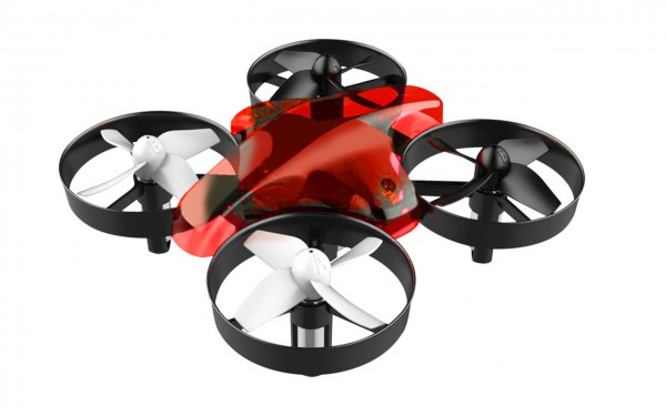 ALLNET Mini Dron con mando a distancia (Rojo)