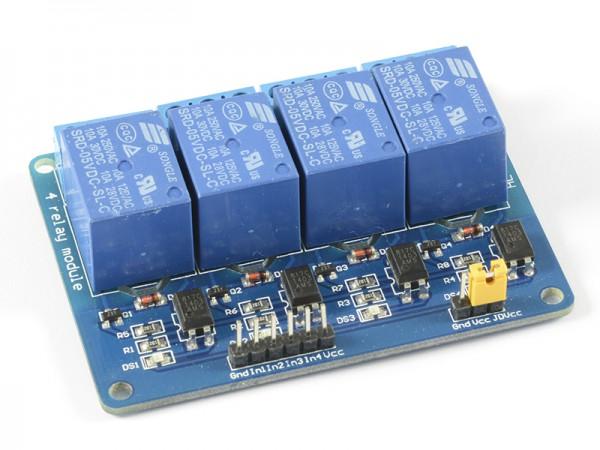 4duino Módulo de 4 relés con optoacoplador