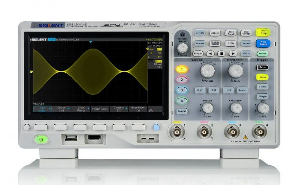 Siglent SDS1204X-E Osciloscopio 4 Canales