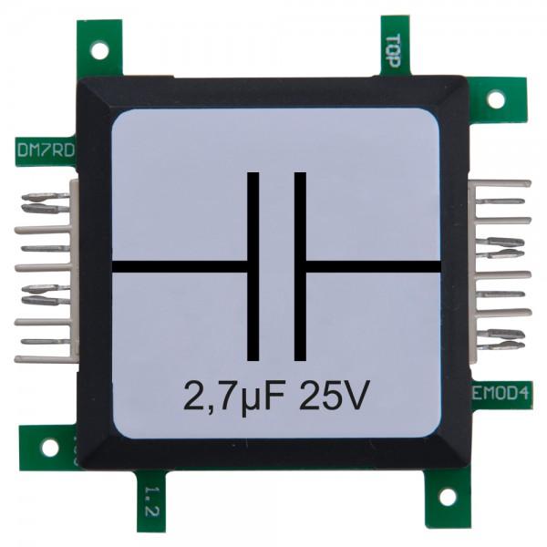 Brick'R'knowledge Condensador 2,7µF 25V