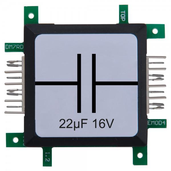 Brick'R'knowledge Condensador 22µF 16V