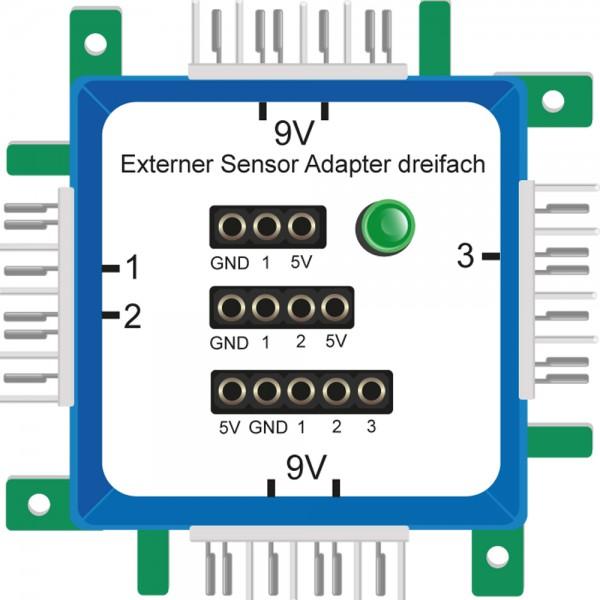 Brick'R'knowledge Adaptador de sensor externo triple