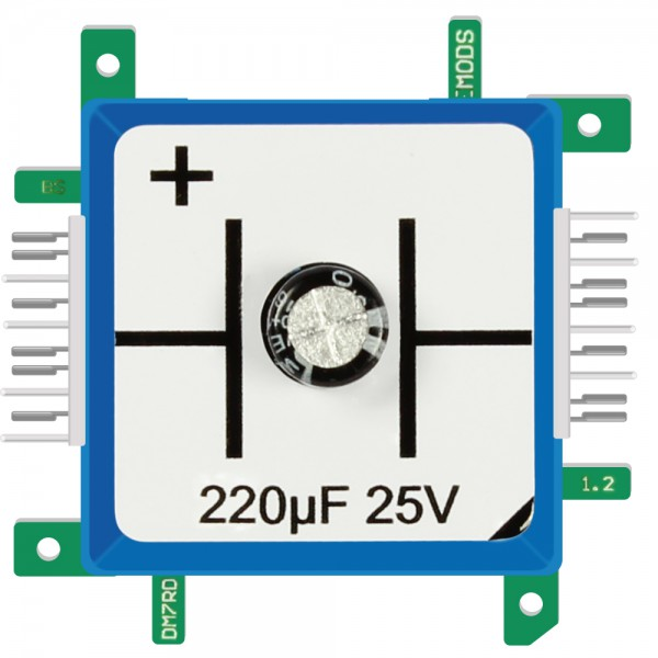 Brick'R'knowledge Condensador 220µF 25V