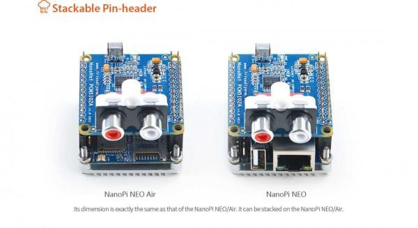 FriendlyELEC NanoHat Audio Shield para NanoPi Neo
